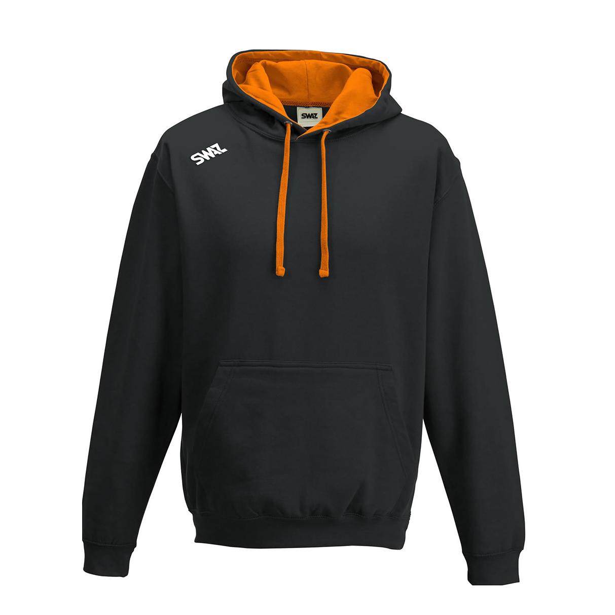 SWAZ Club Hoody – Black/Orange