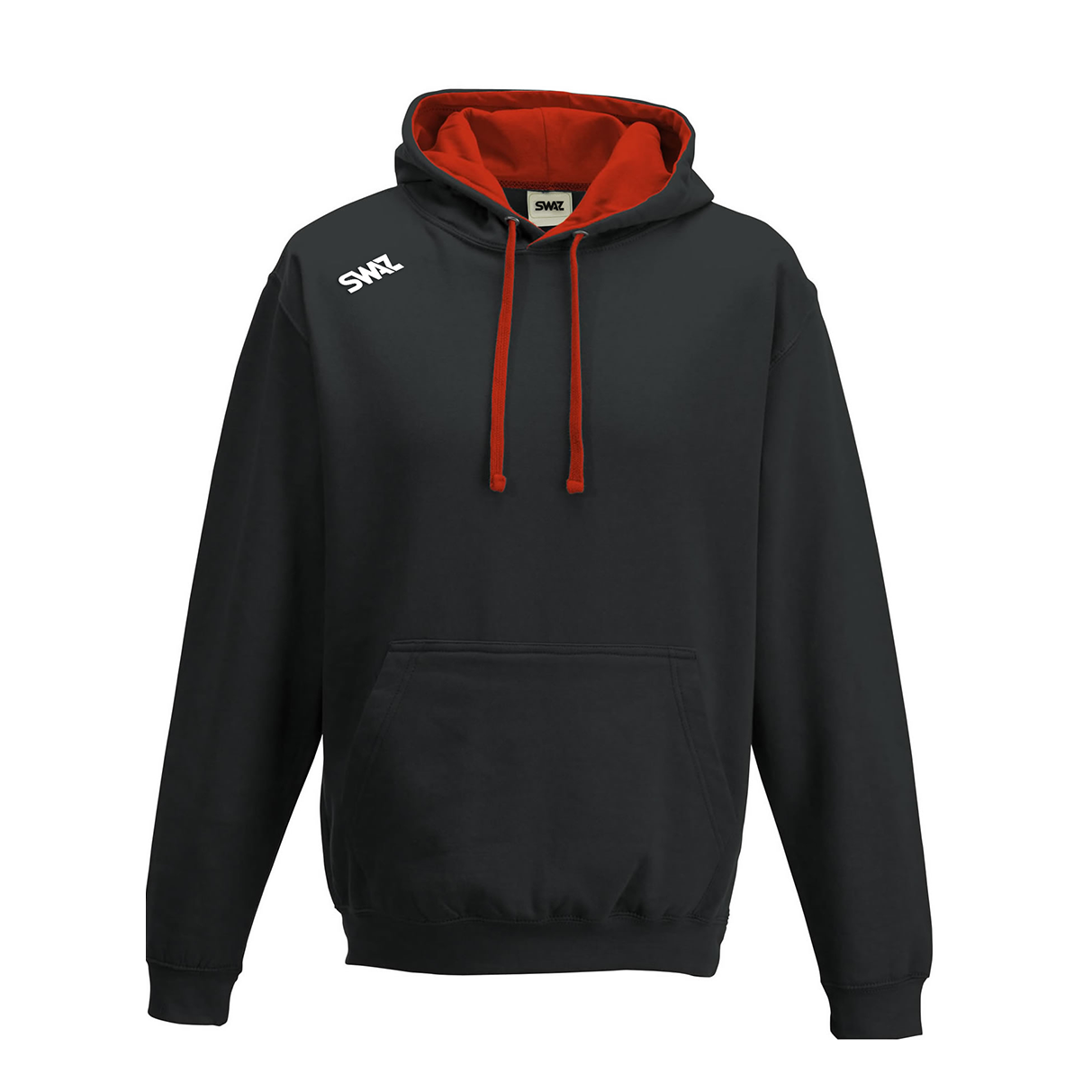 SWAZ Club Hoody – Black/Red