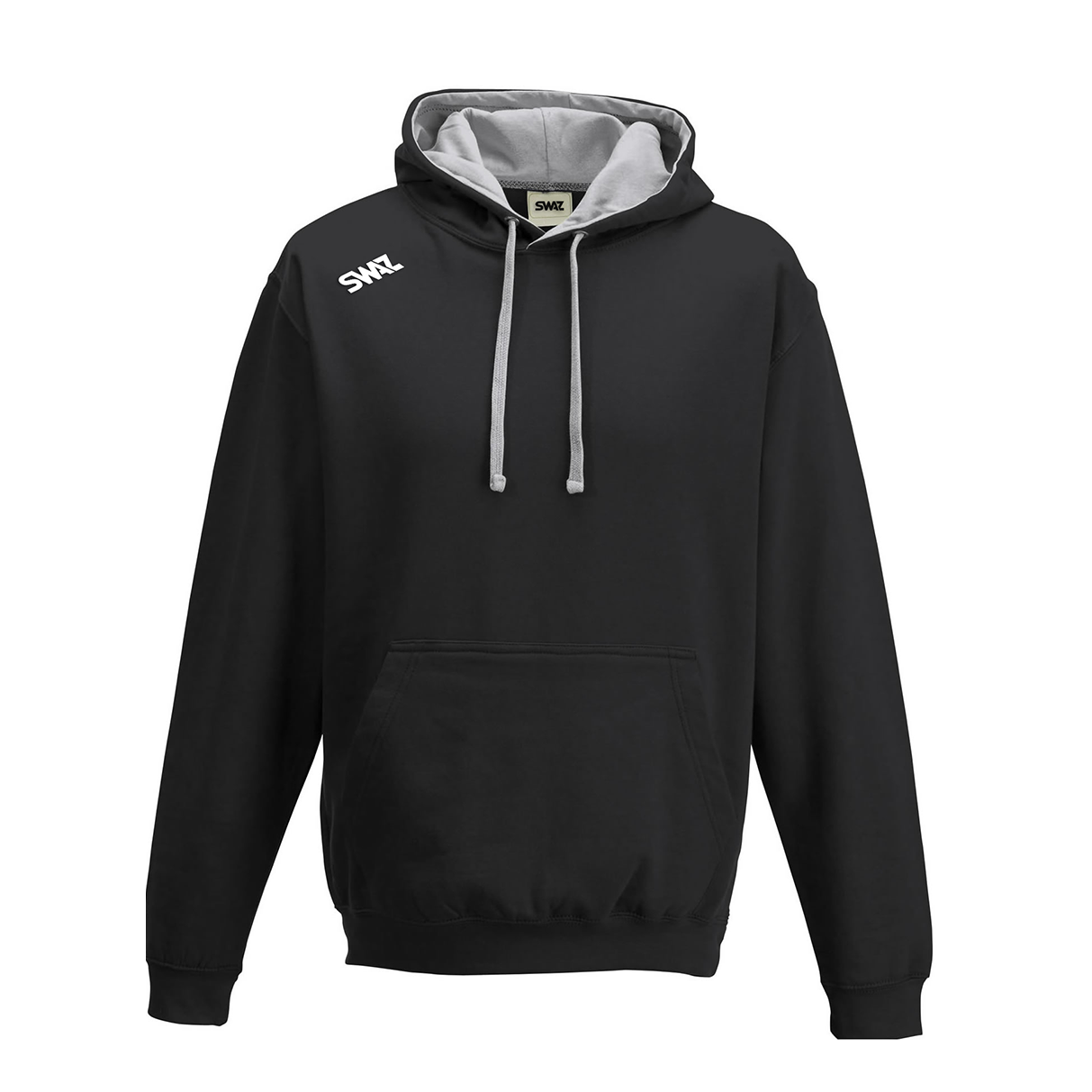 SWAZ Club Hoody – Black/Grey