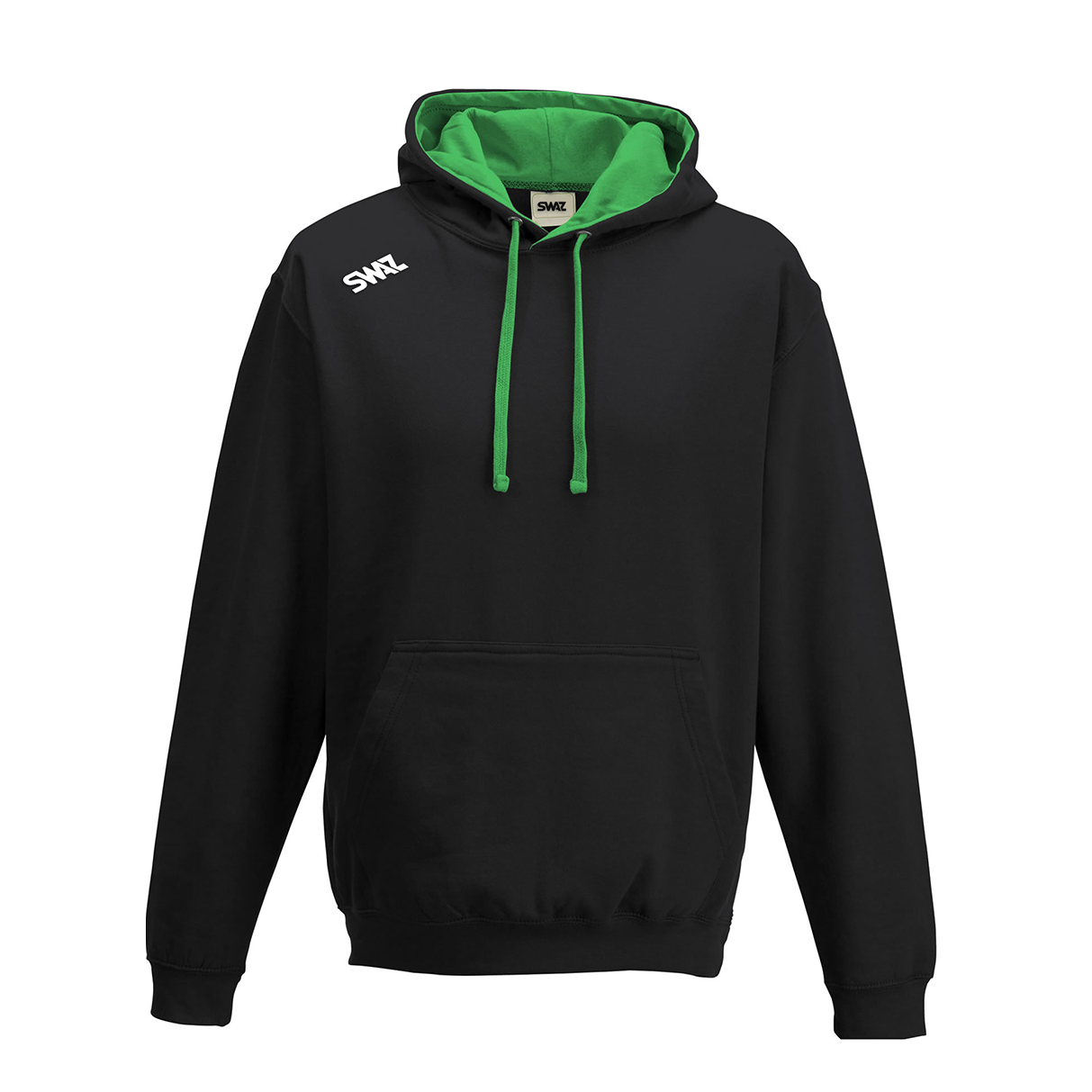 SWAZ Club Hoody – Black/Green