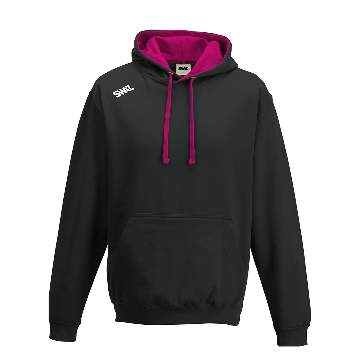SWAZ Club Hoody – Black/Hot Pink