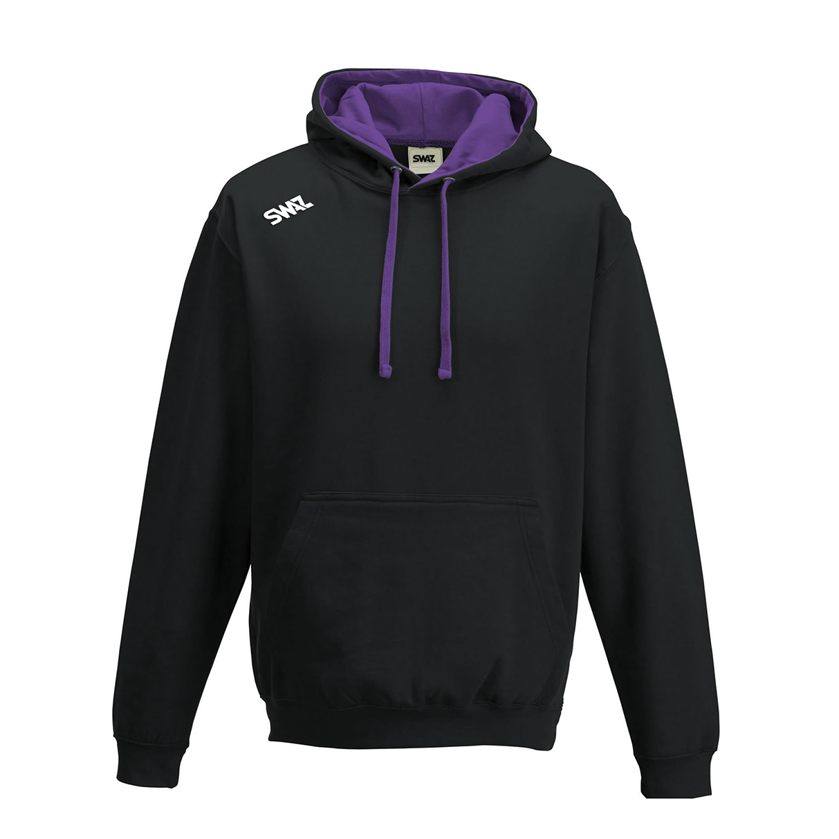SWAZ Club Hoody – Black/Purple
