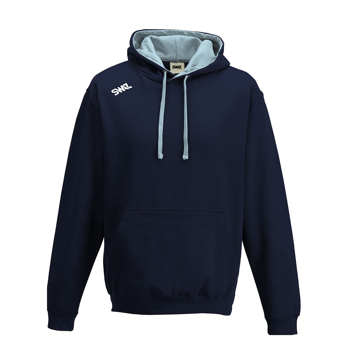 SWAZ Club Hoody – Navy/Sky Blue