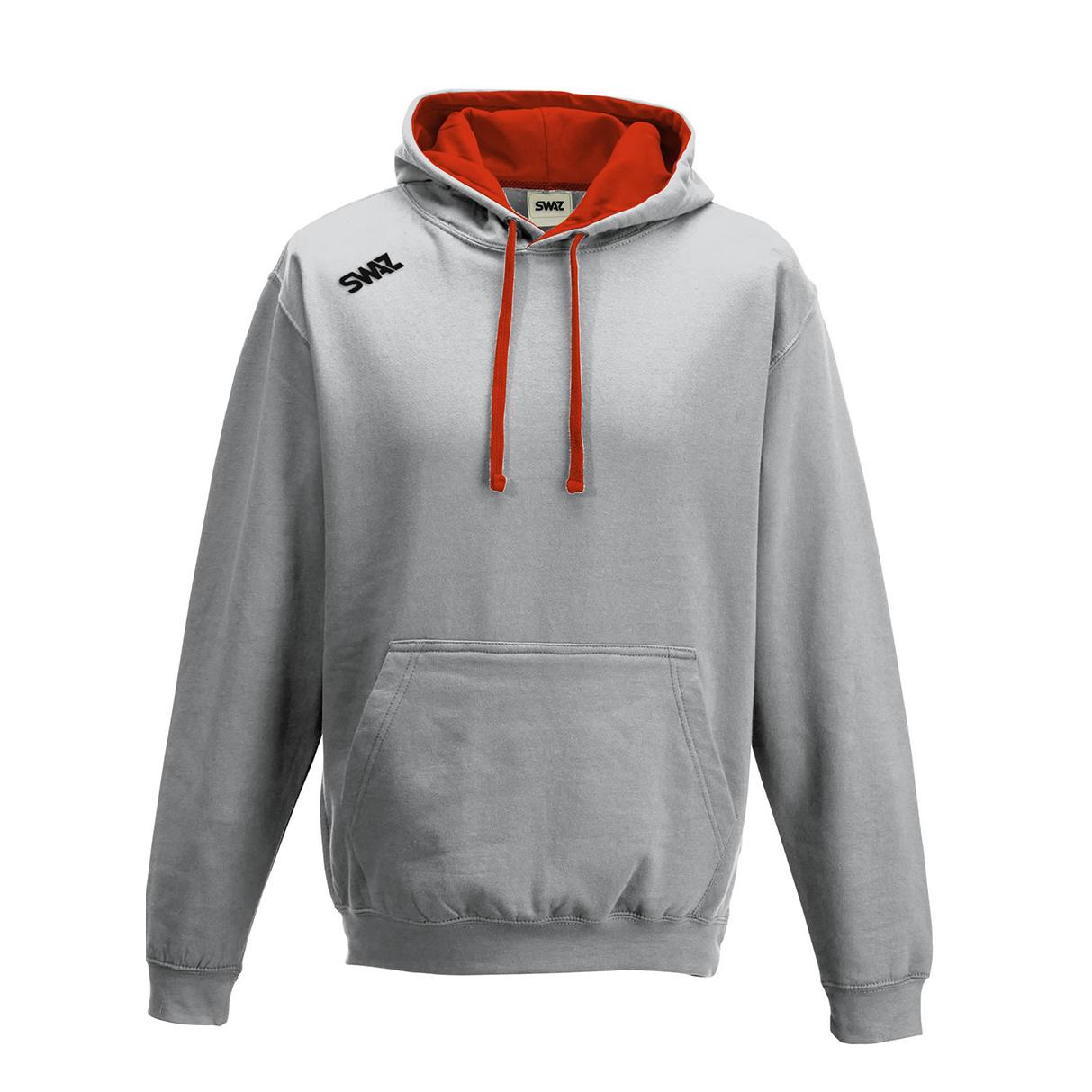 SWAZ Youth Club Hoody – Grey/Red