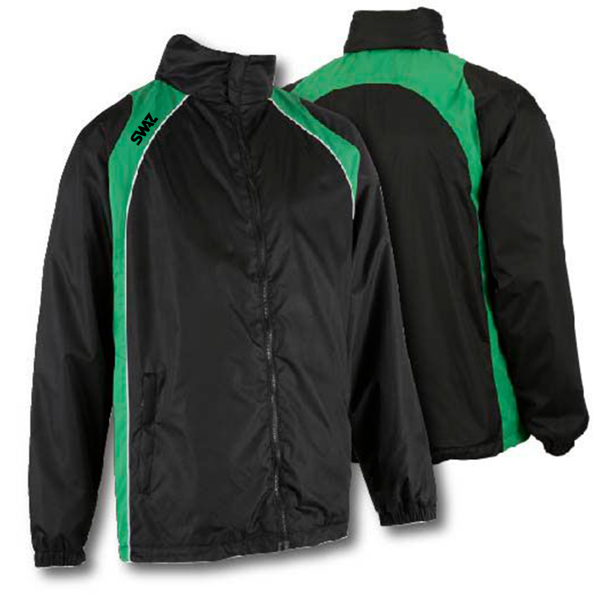 15 SWAZ Showerproof Jackets – Black/Green