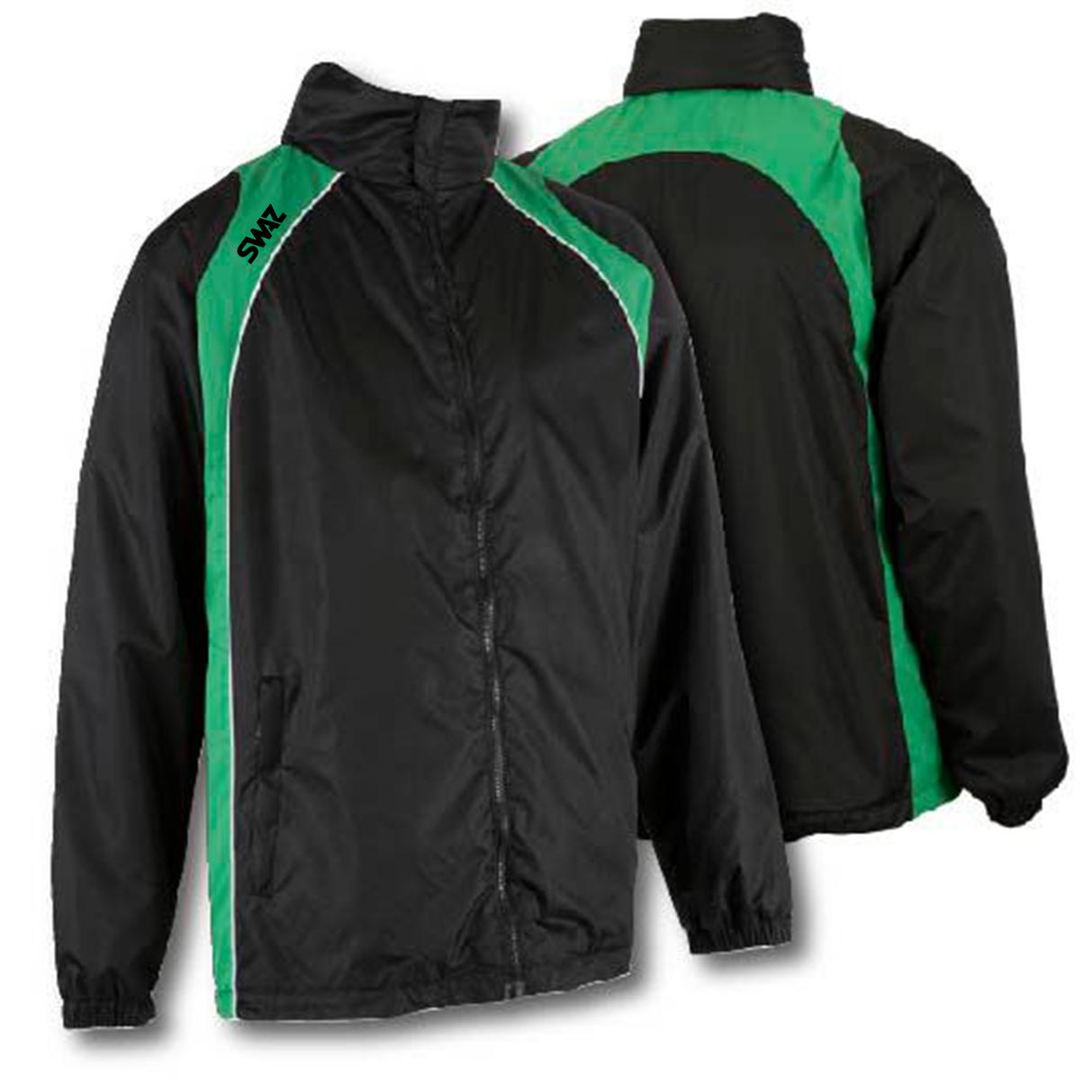 SWAZ Showerproof Jacket – Black/Green
