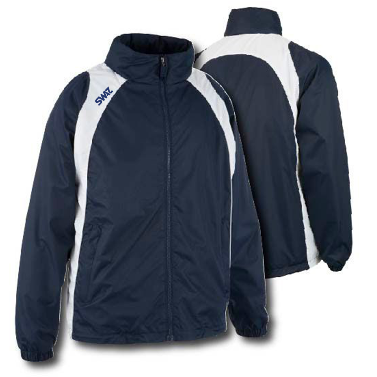 15 SWAZ Showerproof Jackets – Navy/White