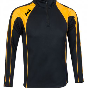 SWAZ Premier Training Mid Layer Jacket - Black & Amber