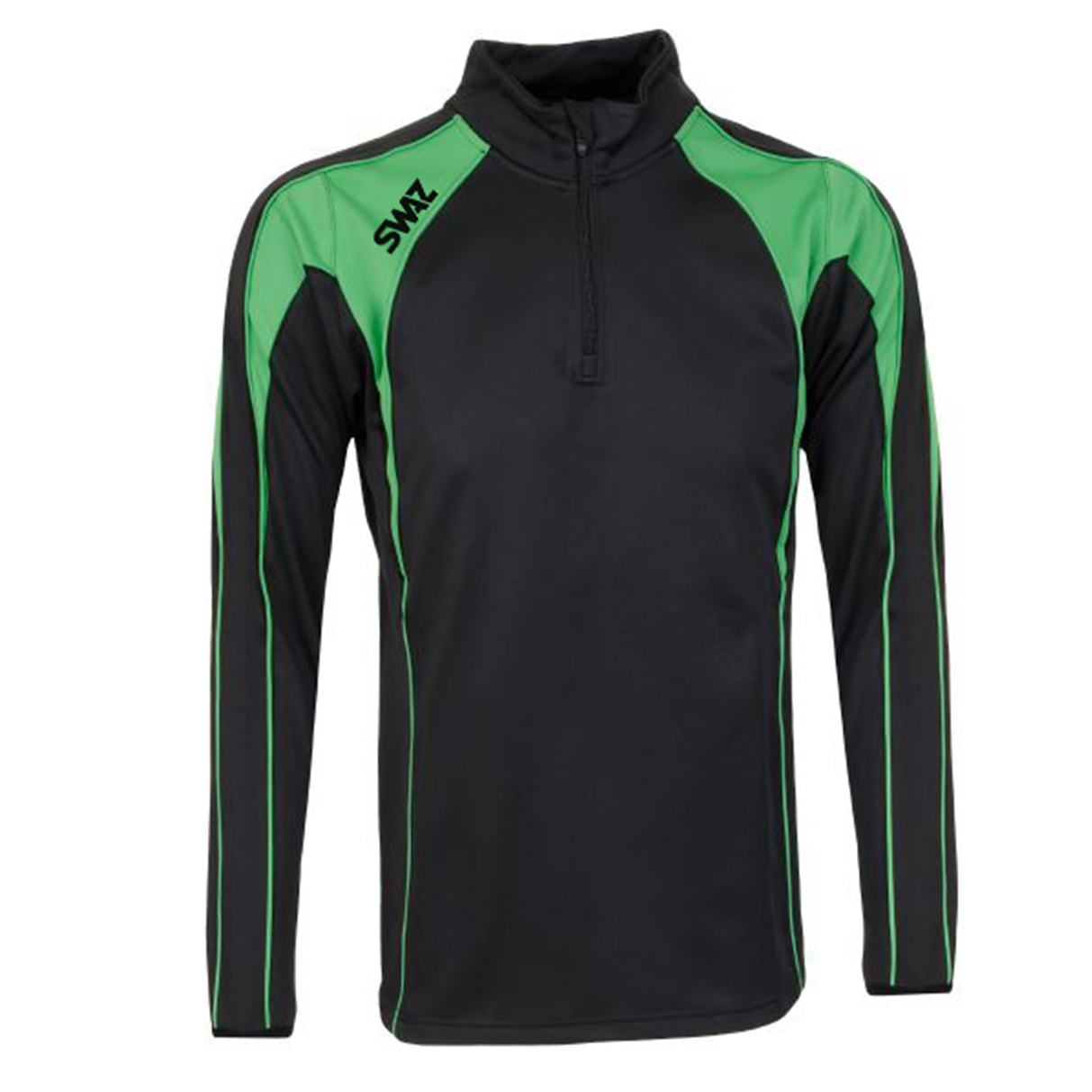 SWAZ Premier 1/4 Zip Midlayer Top – Black/Green