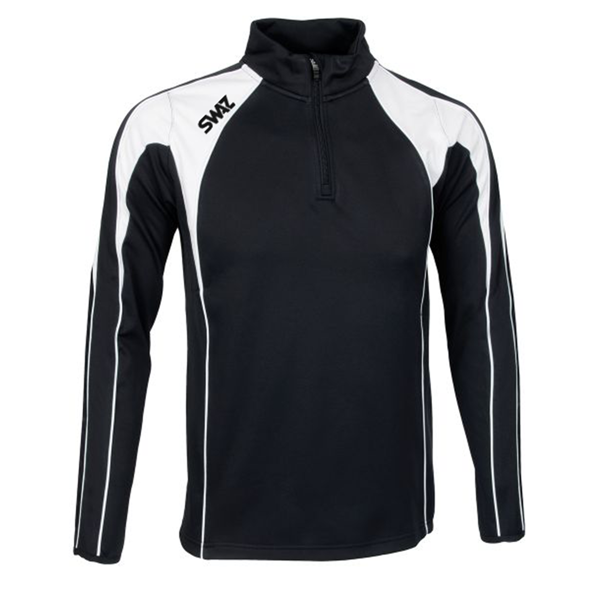 SWAZ Premier 1/4 Zip Midlayer Top – Black/White