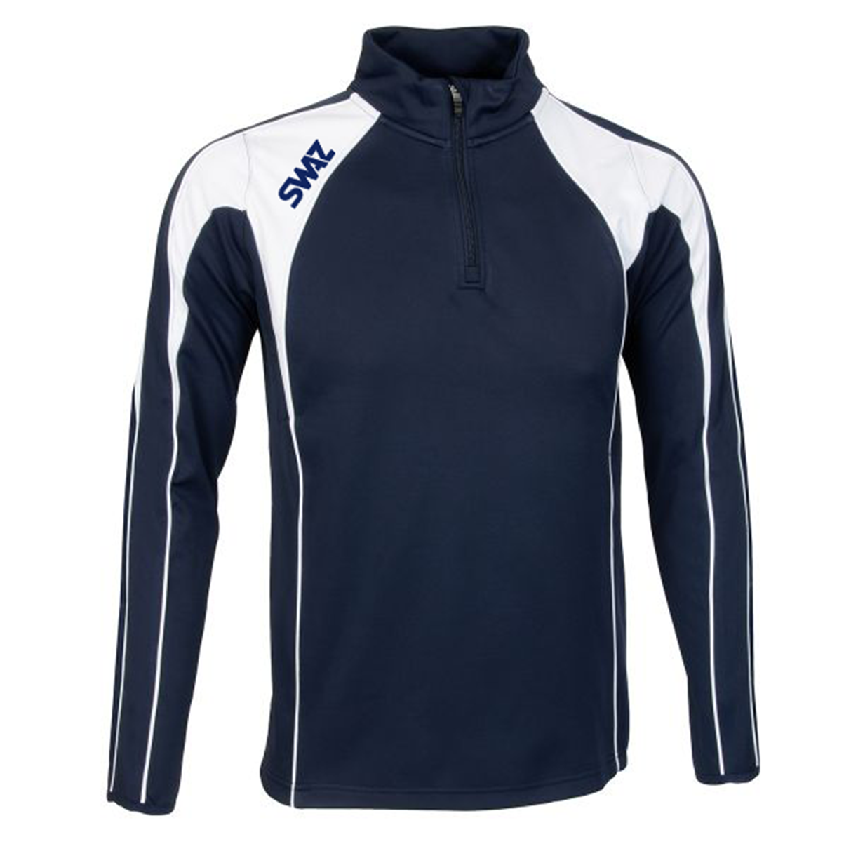 SWAZ Premier 1/4 Zip Midlayer Top – Navy/White