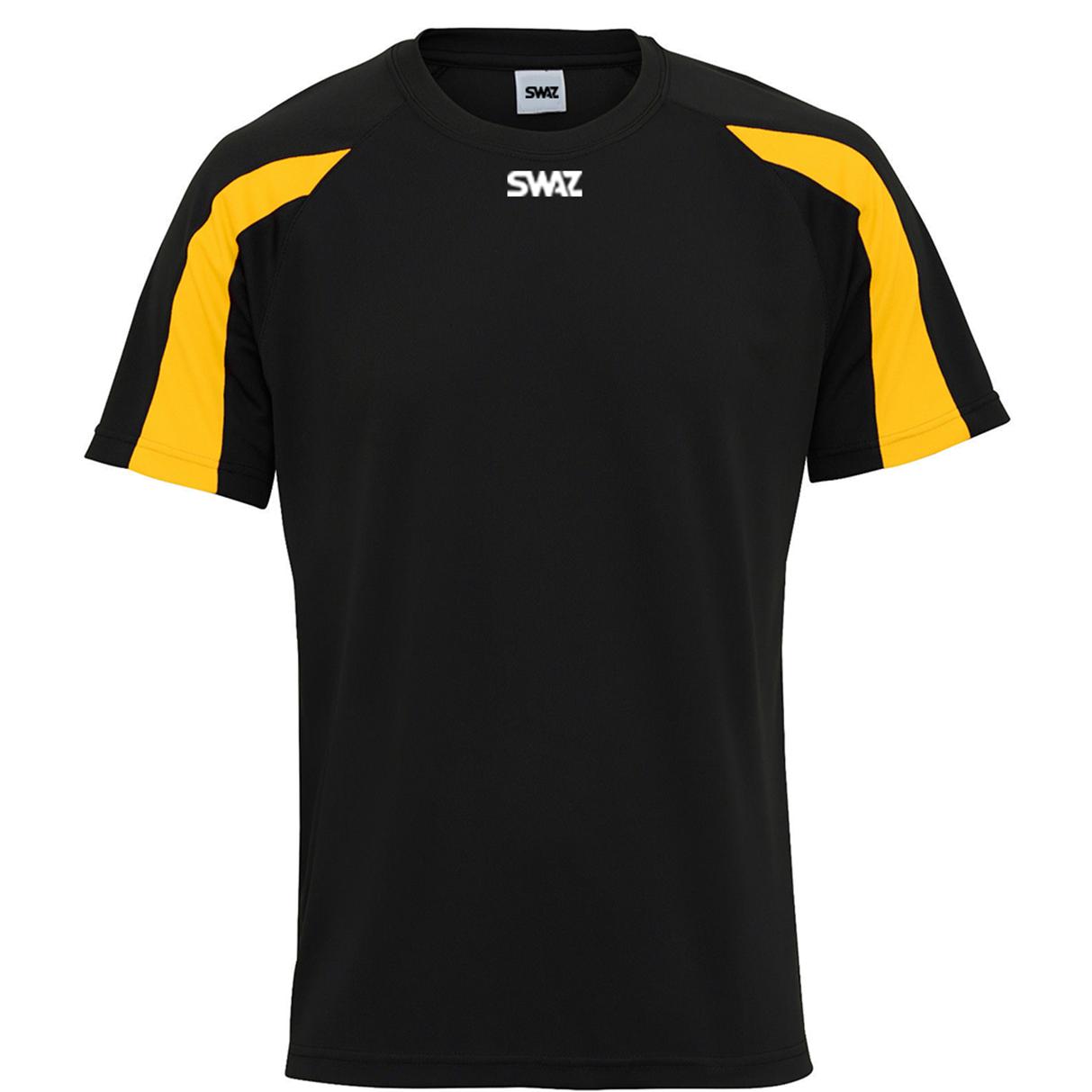 SWAZ Premier Training T-Shirt – Black/Amber