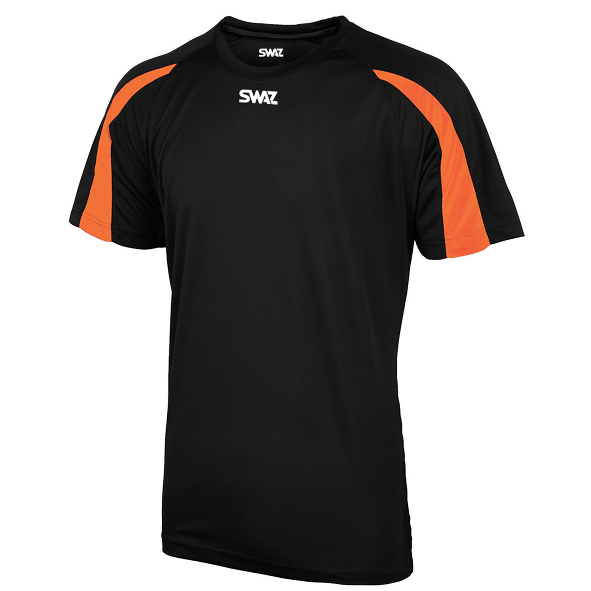 SWAZ Premier Training T-Shirt – Black/Orange