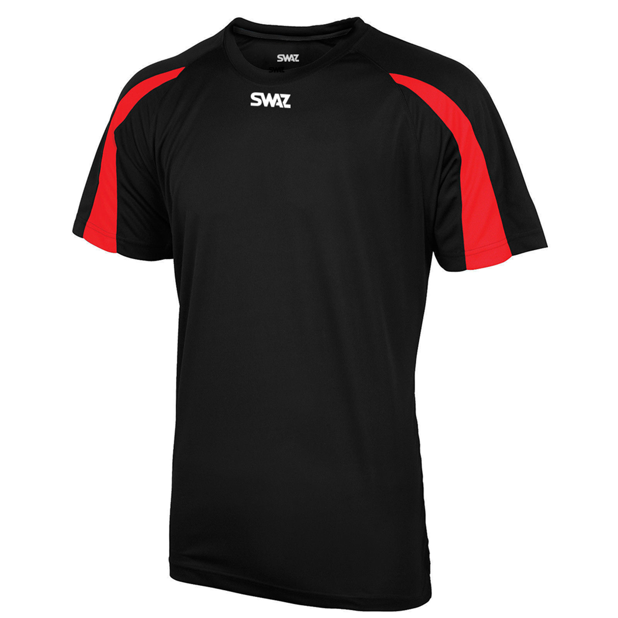 SWAZ Premier Training T-Shirt – Black/Red