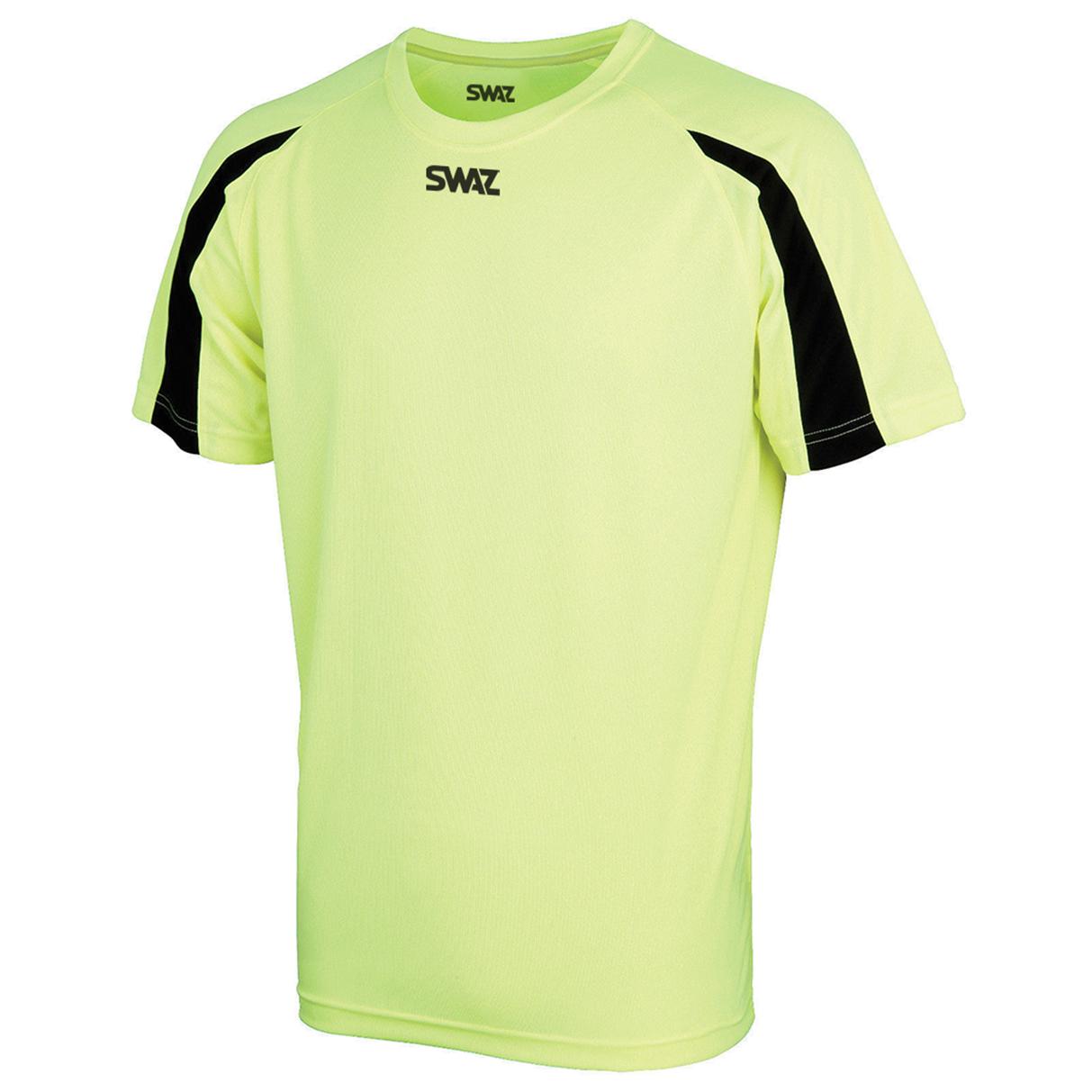 SWAZ Premier Training T-Shirt Electric – Yellow/Black