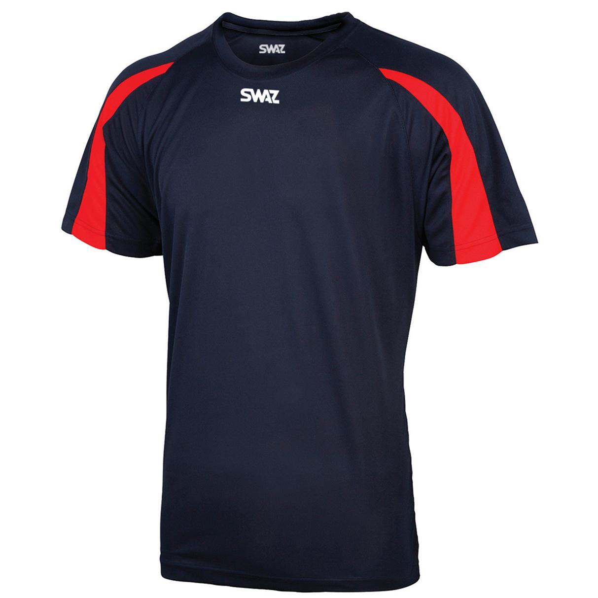 SWAZ Premier Training T-Shirt – Navy/Red