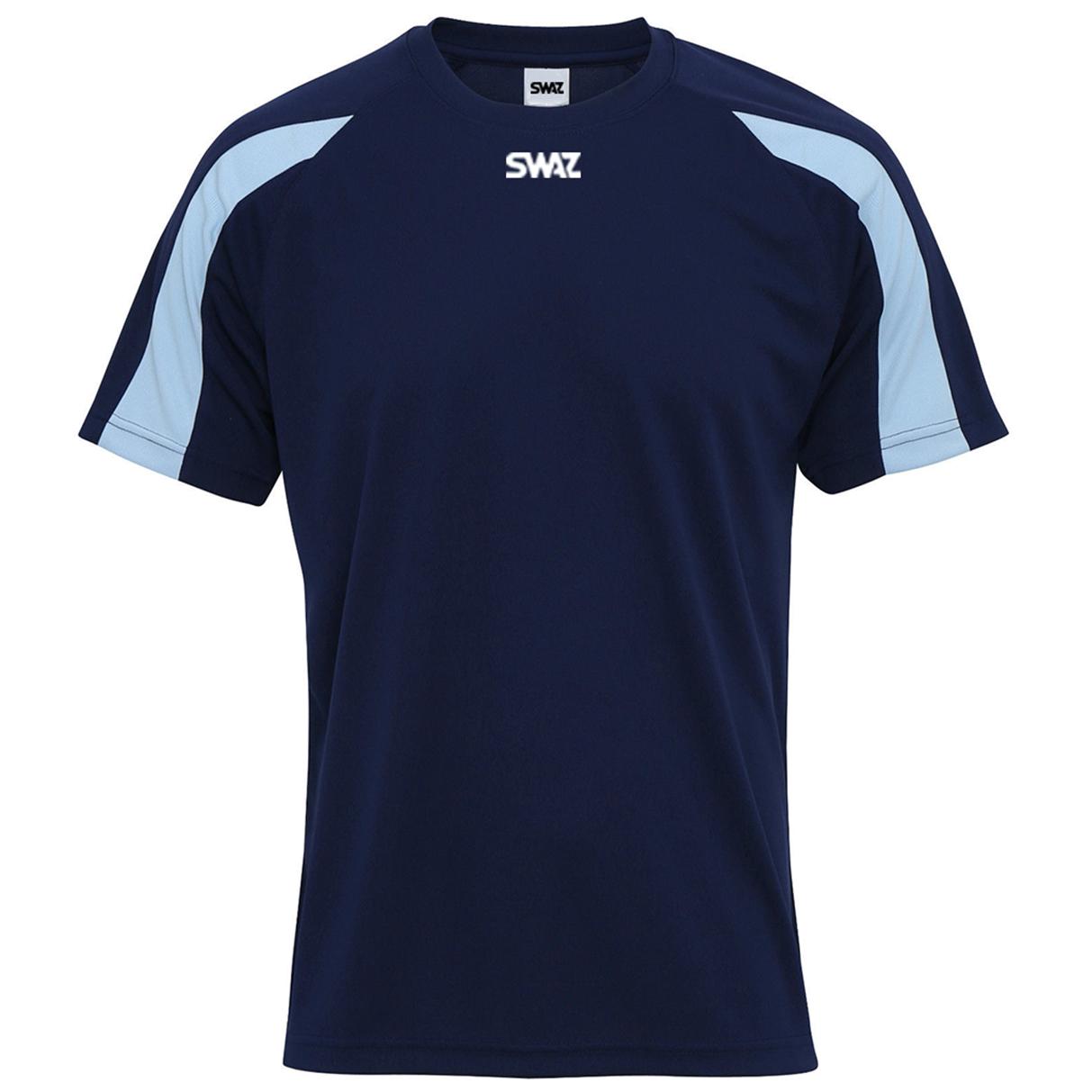 SWAZ Premier Training T-Shirt – Navy/Sky