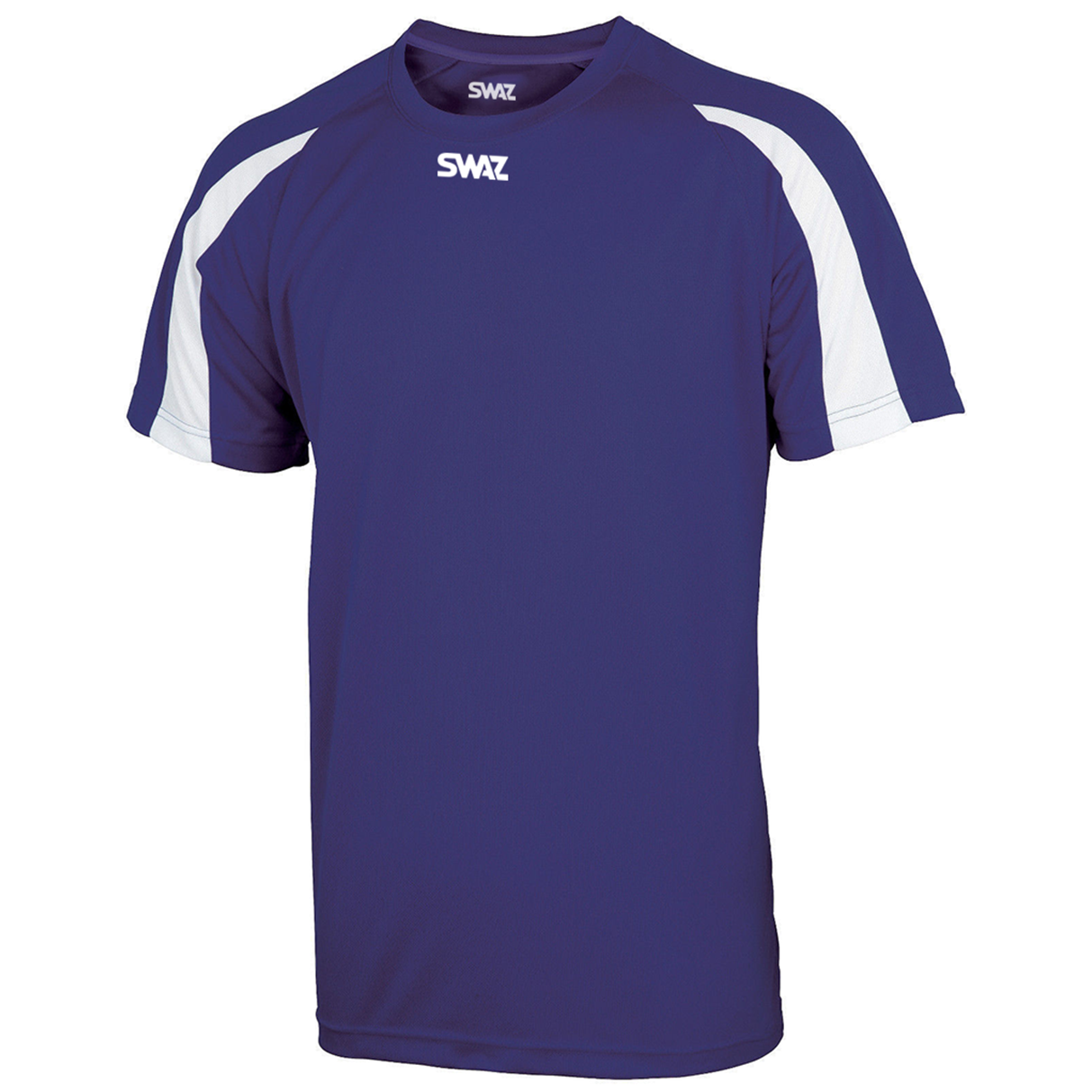SWAZ Premier Training T-Shirt - Purple White Available in 5 Sizes dce0ddd56
