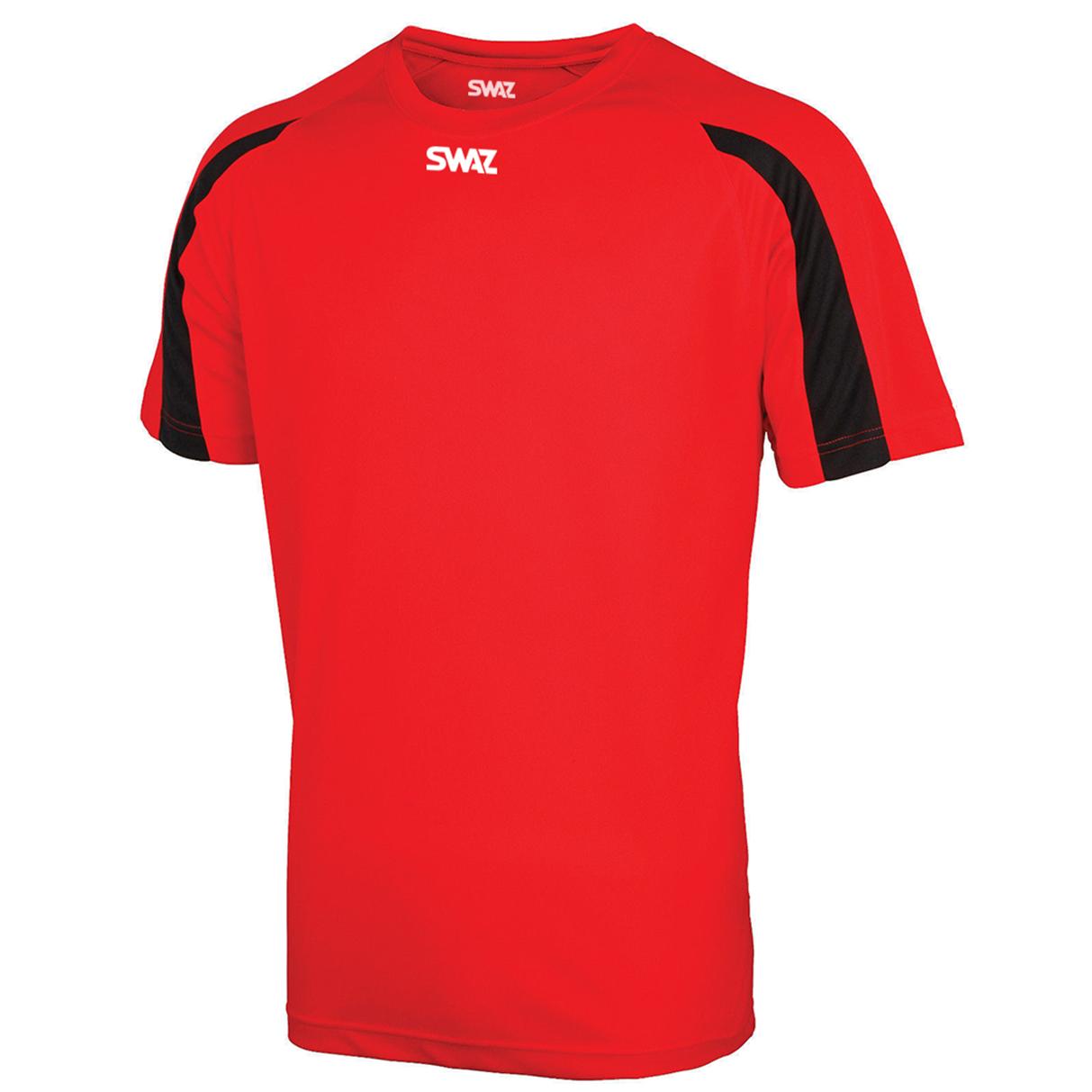 SWAZ Premier Training T-Shirt – Red/Black