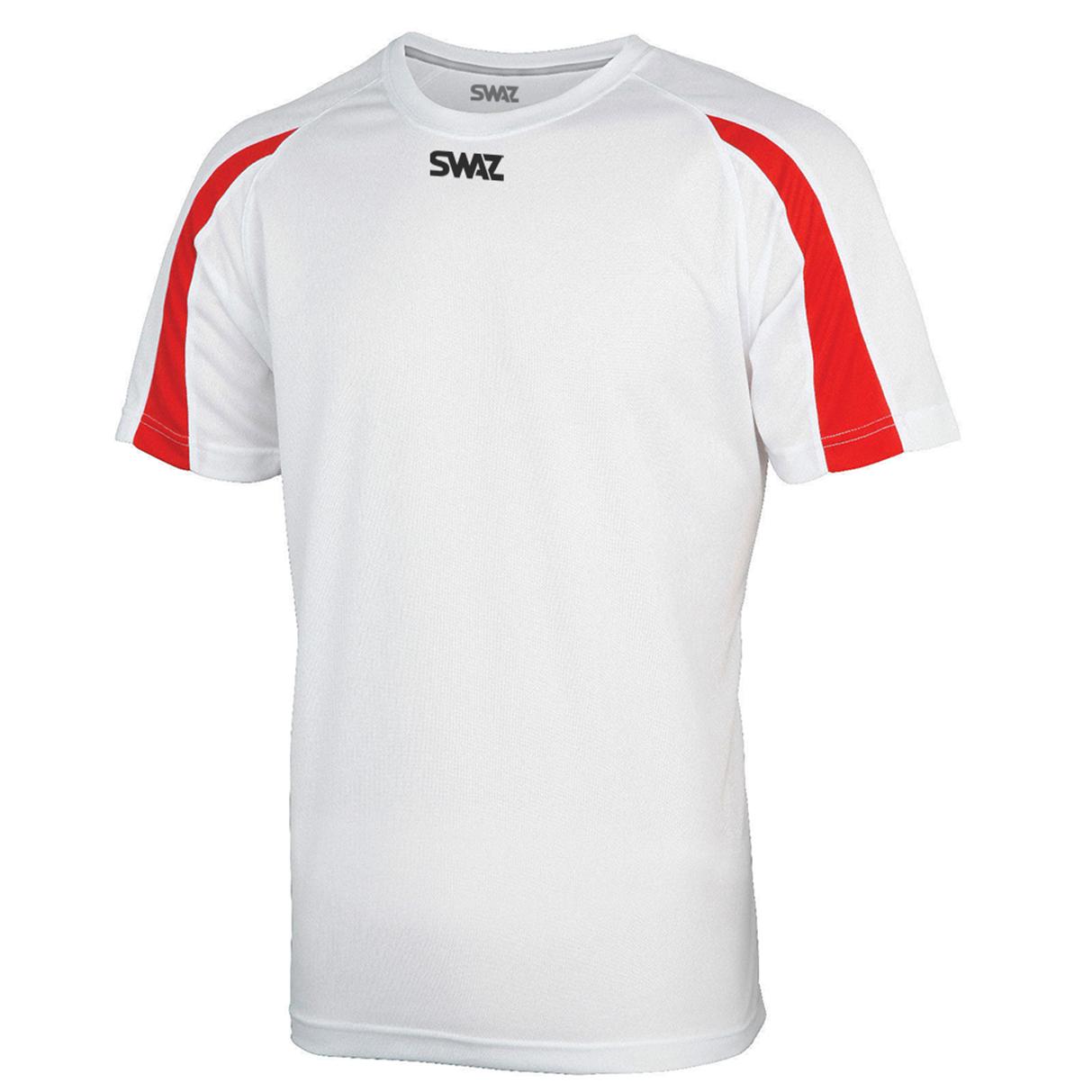 SWAZ Premier Training T-Shirt – White/Red