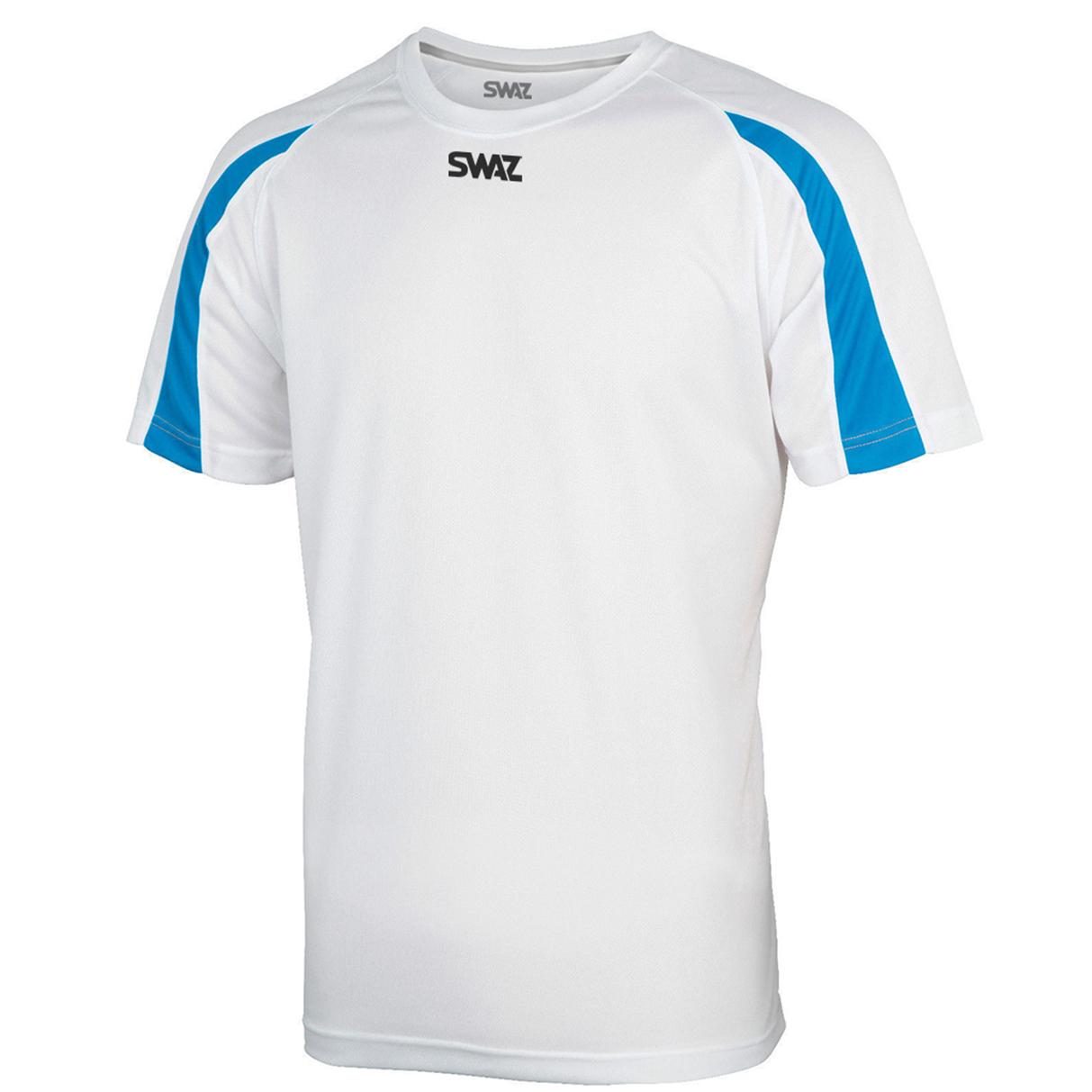 SWAZ Premier Training T-Shirt – White/Sapphire
