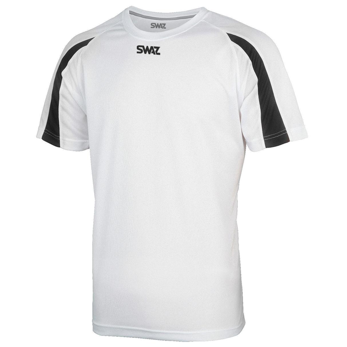 SWAZ Premier Training T-Shirt – White/Black