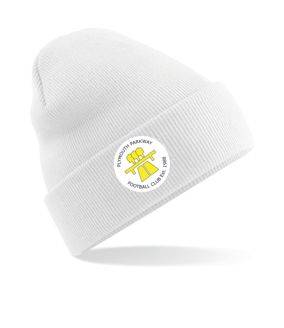 3dc436458a2 SWAZ Plymouth Parkway Beanie Hat - White
