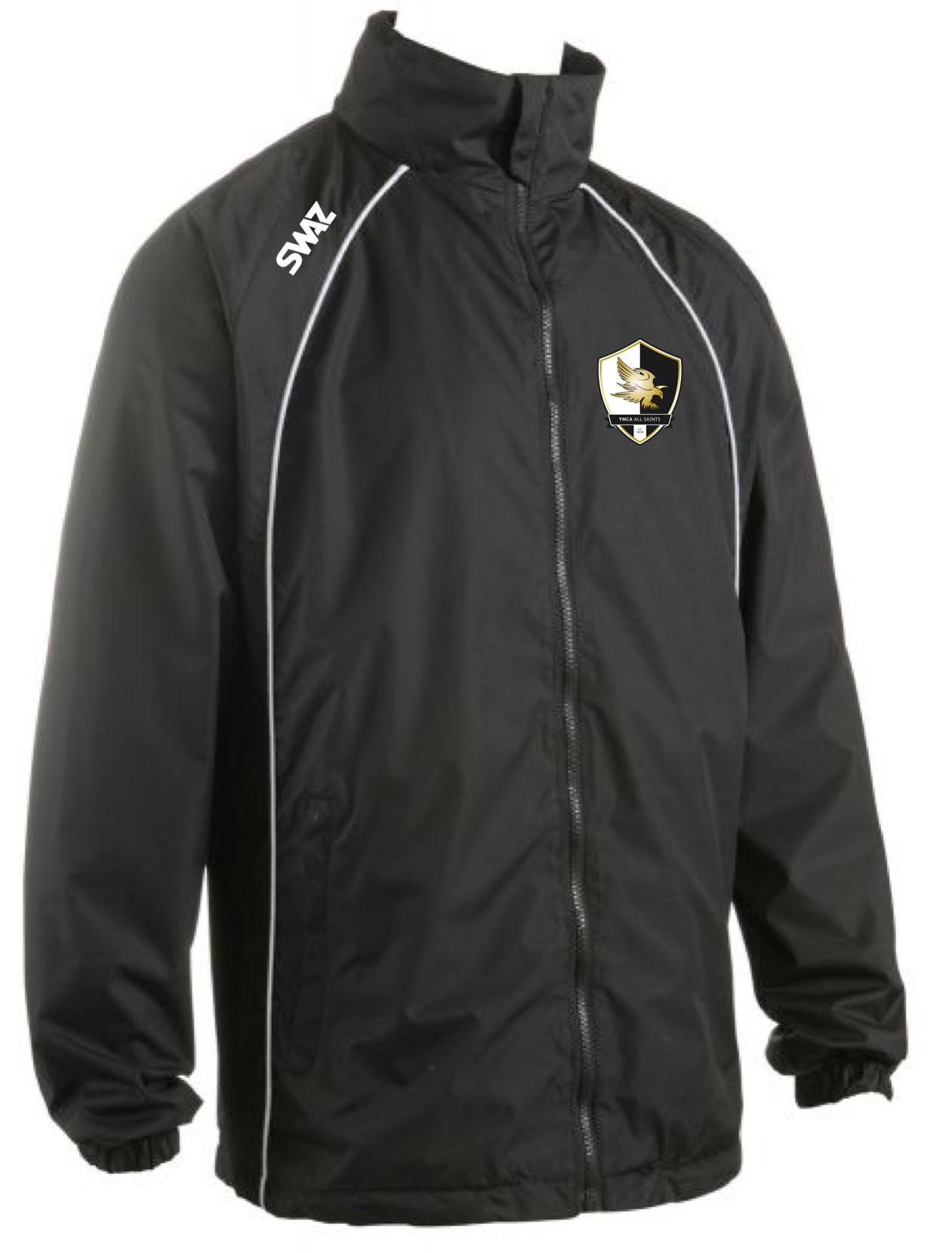 SWAZ YMCA All Saints Adult Showerproof Jacket – Black