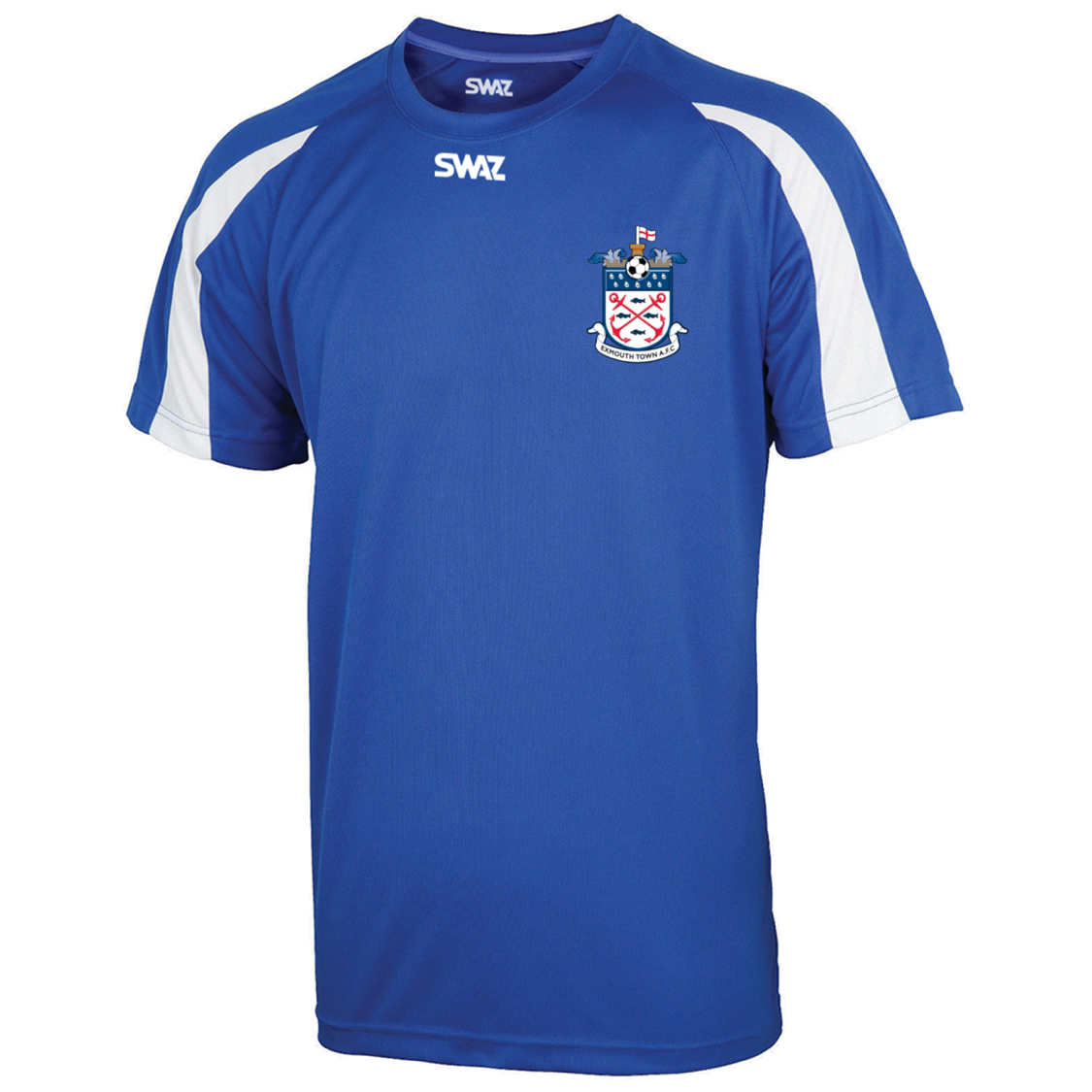 SWAZ Exmouth Town Adult Training T-Shirt – Royal/White