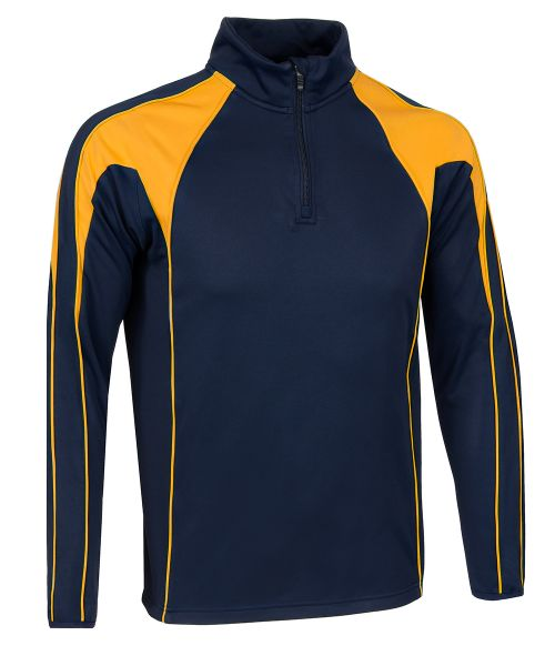 SWAZ Premier 1/4 Zip Midlayer Top – Navy/Amber