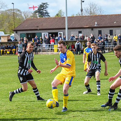 Plymouth Parkway player playing in a SWAZ football kit, SWAZ is supplier for Plymouth Parkway