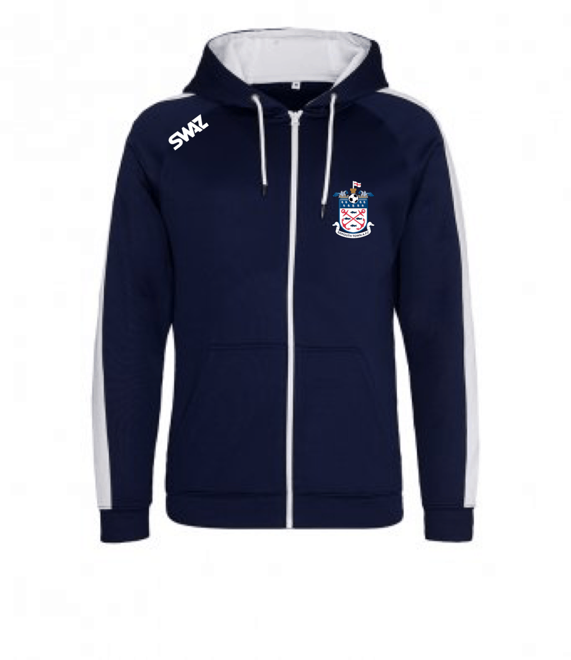 Exmouth Town Zip Hoody   SWAZ Teamwear   Football Kit Supplier