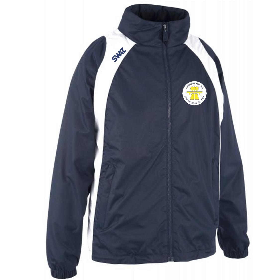 Plymouth Parkway Showerproof Jacket   SWAZ Teamwear   Football Kits