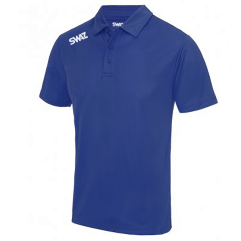 SWAZ League Royal Polo Shirt   Football Teamwear