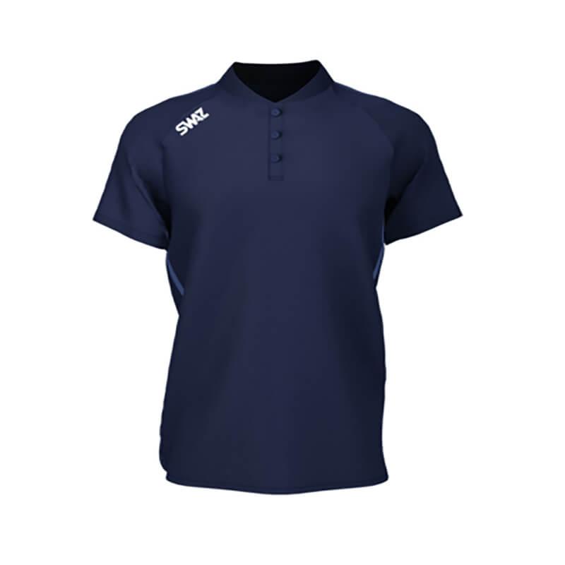 SWAZ Junior Elite Navy Polo Shirt _ Football Teamwear