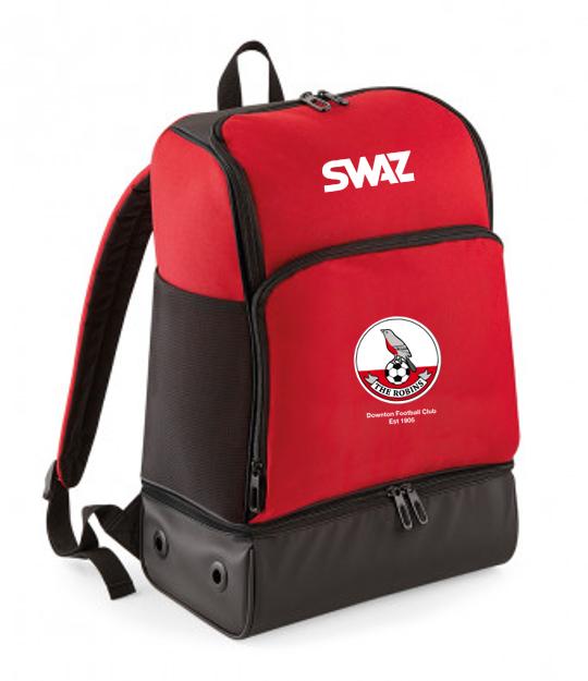 Downton FC Backpack   SWAZ Teamwear   Football Kit Supplier