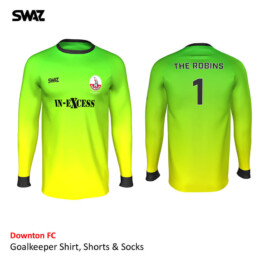 SWAZ Custom football shirt | Downton FC Goalkeeper Kit | SWAZ Football